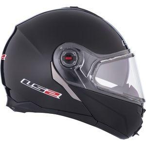 LS2 FF386 motorcycle skidoo atv helmet black with visor and sun visors